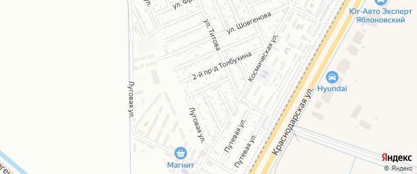 Чибийская улица на карте садового некоммерческого товарищества Берега Кубани с номерами домов