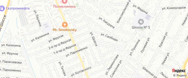 Улица Щорса на карте Яблоновского поселка с номерами домов
