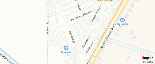Фестивальная улица на карте Яблоновского поселка Адыгеи с номерами домов