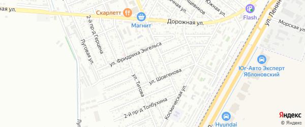 Азовский 1-й проезд на карте Яблоновского поселка Адыгеи с номерами домов