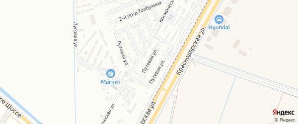 Путевая улица на карте Яблоновского поселка Адыгеи с номерами домов