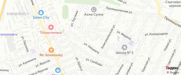 Переулок Хакурате на карте Яблоновского поселка Адыгеи с номерами домов