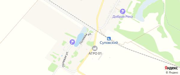 Полевой переулок на карте Суповского хутора Адыгеи с номерами домов