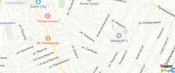 Улица Хакурате на карте Яблоновского поселка Адыгеи с номерами домов