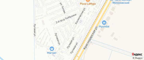 Космическая улица на карте Яблоновского поселка Адыгеи с номерами домов