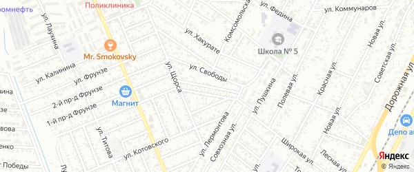 Лермонтова 3-й проезд на карте Яблоновского поселка Адыгеи с номерами домов