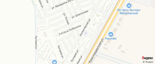 Толбухина 3-й проезд на карте Яблоновского поселка Адыгеи с номерами домов