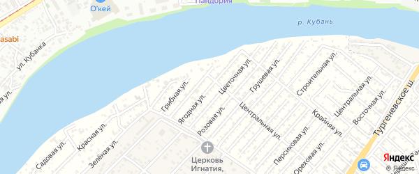 Ягодная улица на карте Мелиоратора Адыгеи с номерами домов