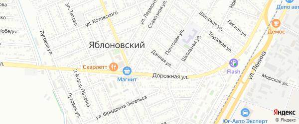 Степная улица на карте Яблоновского поселка Адыгеи с номерами домов