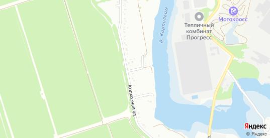 Колхозный 2-й переулок в микрорайоне Заря в Тимашевске с номерами домов на карте. Спутник и схема онлайн