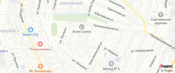 Западная улица на карте Яблоновского поселка Адыгеи с номерами домов