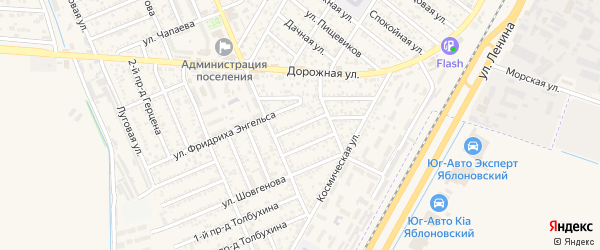 Шовгенова 2-й проезд на карте Яблоновского поселка Адыгеи с номерами домов