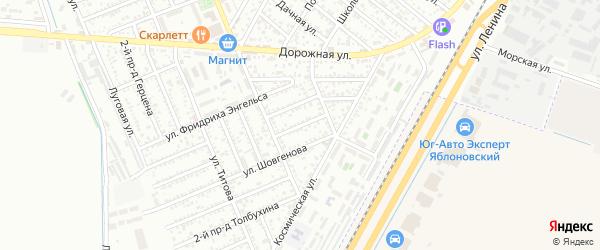 Шовгенова 1-й проезд на карте Яблоновского поселка Адыгеи с номерами домов
