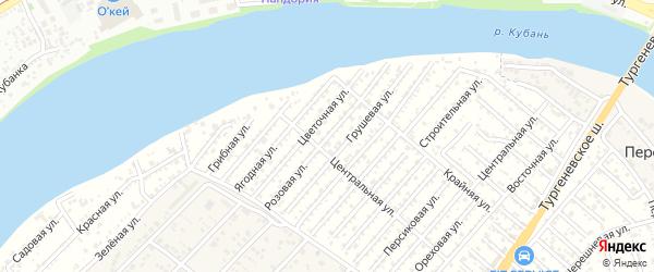 Розовая улица на карте Мелиоратора Адыгеи с номерами домов