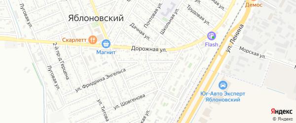 Московский переулок на карте Яблоновского поселка Адыгеи с номерами домов