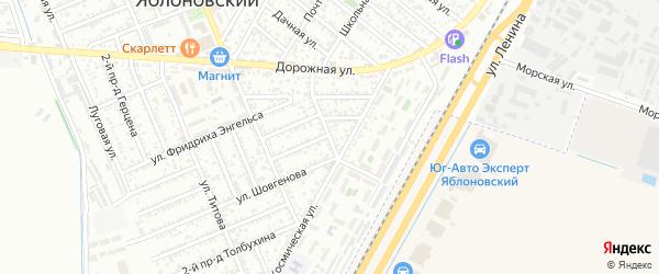 Улица Карла Маркса на карте Яблоновского поселка Адыгеи с номерами домов