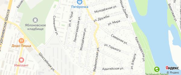 Улица Дружбы на карте Яблоновского поселка Адыгеи с номерами домов