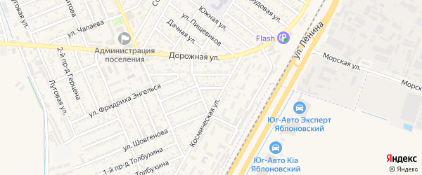Переулок Карла Маркса на карте Яблоновского поселка Адыгеи с номерами домов