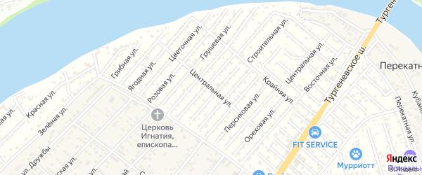 Центральная улица на карте Закубанские садов 2 Адыгеи с номерами домов