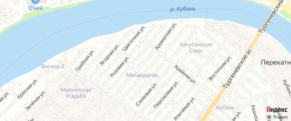 Виноградная улица на карте Закубанские садов 2 Адыгеи с номерами домов