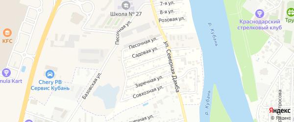 Земляничная улица на карте Зори Кубани Адыгеи с номерами домов