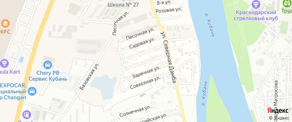 Абрикосовая улица на карте Нового Адыгеи с номерами домов