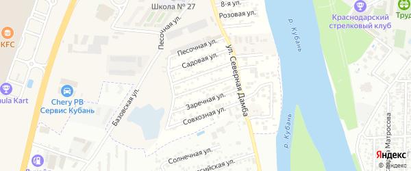 Абрикосовая улица на карте Зори Кубани Адыгеи с номерами домов
