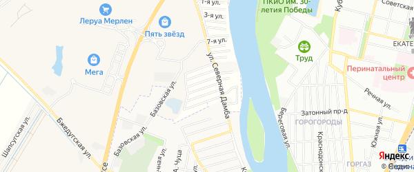 Карта садового некоммерческого товарищества Зори Кубани в Адыгее с улицами и номерами домов