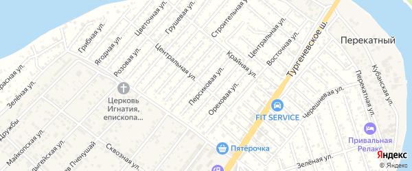 Персиковая улица на карте Мелиоратора Адыгеи с номерами домов