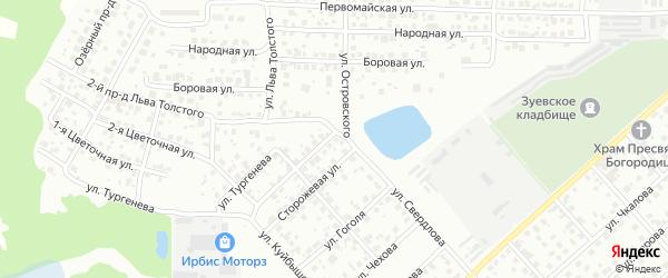 Льва Толстого 1-й проезд на карте Орехово-Зуево с номерами домов