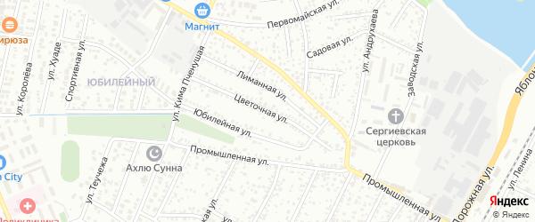 Цветочная улица на карте Яблоновского поселка Адыгеи с номерами домов