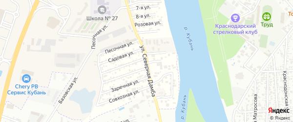 Улица Северная дамба на карте аула Новой Адыгеи Адыгеи с номерами домов