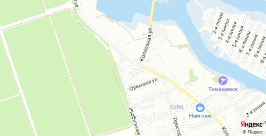 Переулок Заря в микрорайоне Заря в Тимашевске с номерами домов на карте. Спутник и схема онлайн