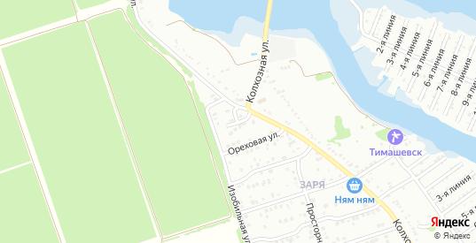 Изобильный 1-й переулок в микрорайоне Заря в Тимашевске с номерами домов на карте. Спутник и схема онлайн