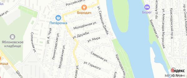 Улица Мира на карте Яблоновского поселка с номерами домов