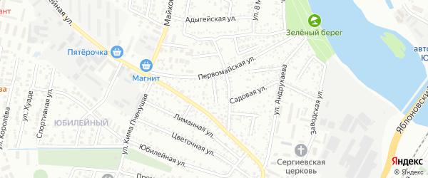 Тупиковый переулок на карте Яблоновского поселка Адыгеи с номерами домов