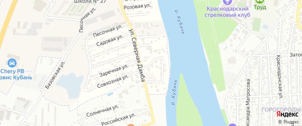 Вишневая улица на карте садового некоммерческого товарищества Зори Кубани с номерами домов