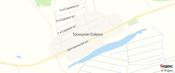 Карта села Троицкие Озерков города Коломны в Московской области с улицами и номерами домов
