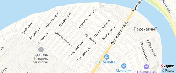 Крайняя улица на карте Закубанские садов Адыгеи с номерами домов