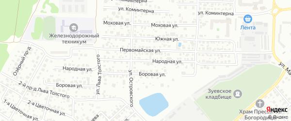 Народная улица на карте Орехово-Зуево с номерами домов