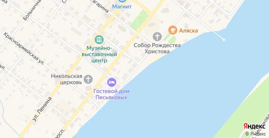 Набережная им Баранова в Каргополе с номерами домов на карте. Спутник и схема онлайн