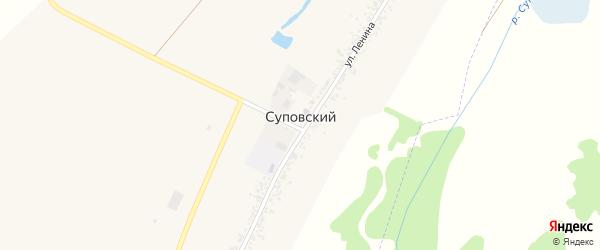Колхозная улица на карте Суповского хутора Адыгеи с номерами домов