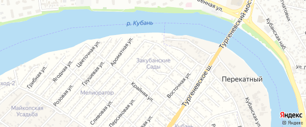 Плановая улица на карте Закубанские садов Адыгеи с номерами домов