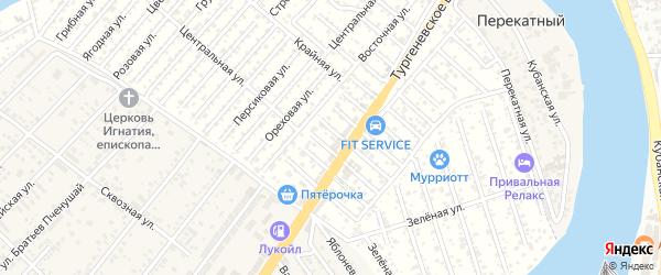 Малиновая улица на карте Закубанские садов 2 Адыгеи с номерами домов