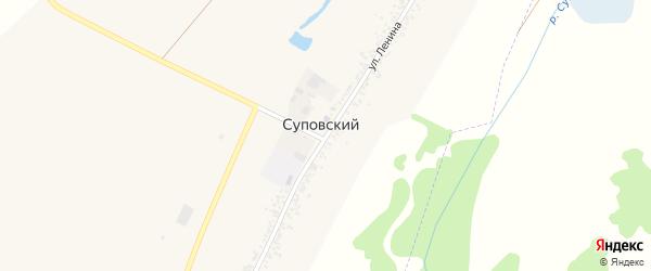 Улица Ленина на карте Суповского хутора Адыгеи с номерами домов