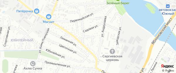 Садовый переулок на карте Яблоновского поселка Адыгеи с номерами домов