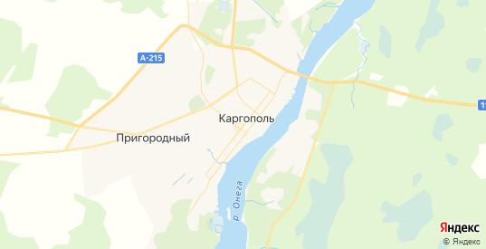 Карта Каргополя с улицами и домами подробная. Показать со спутника номера домов онлайн