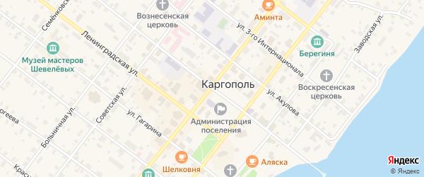 Ольская улица на карте Каргополя с номерами домов
