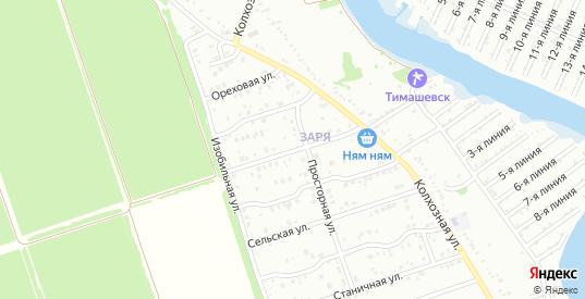Пшеничная улица в микрорайоне Заря в Тимашевске с номерами домов на карте. Спутник и схема онлайн