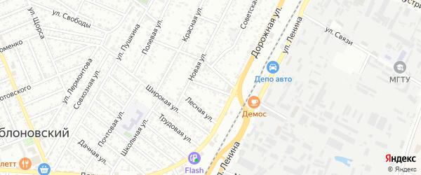 Привольная улица на карте Яблоновского поселка Адыгеи с номерами домов